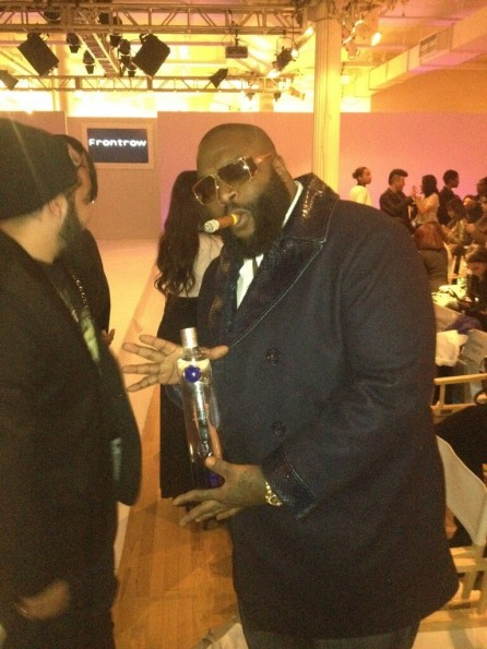candid-rick ross-front row-new york fashion week-the jasmine brand