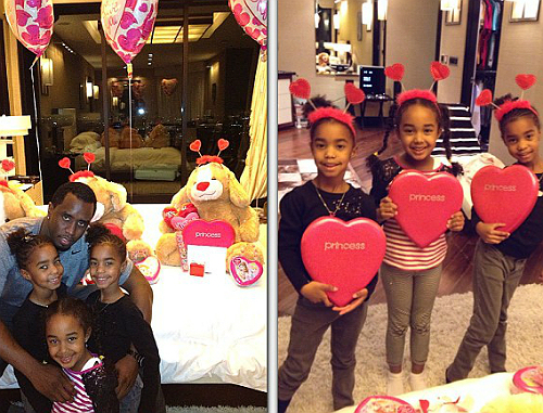 diddy-valentines day with daughters 2013-the jasmine brand
