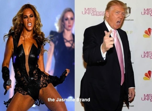 donald trump-calls beyonce super bowl show-ianppropriate-criticizes-the jasmine brand