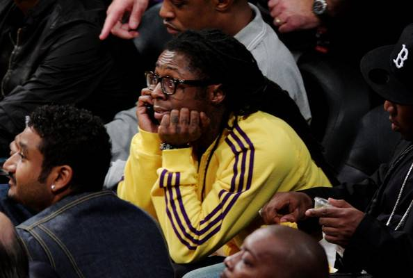 lil wayne-kicked out miami heat-lakers game-the jasmine brand