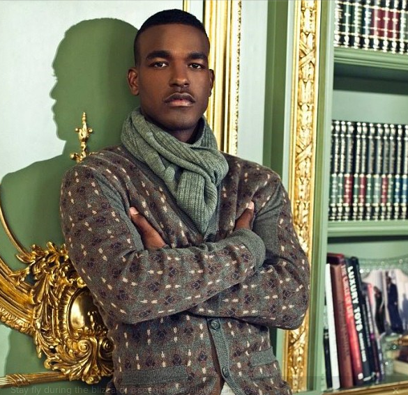 luke james-sean john instagram fashion show 2013-the jasmine brand