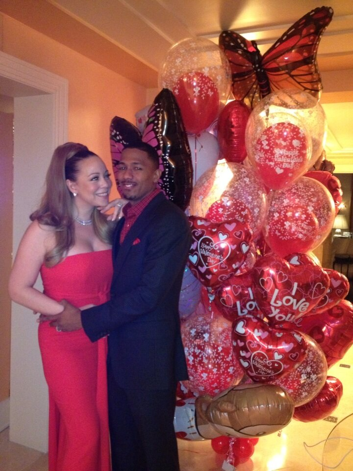 mariah carey-nick cannon-valentines balloons 2013-the jasmine brand