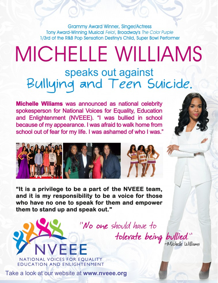 michelle williams-nveee-anti bullying-the jasmine brand