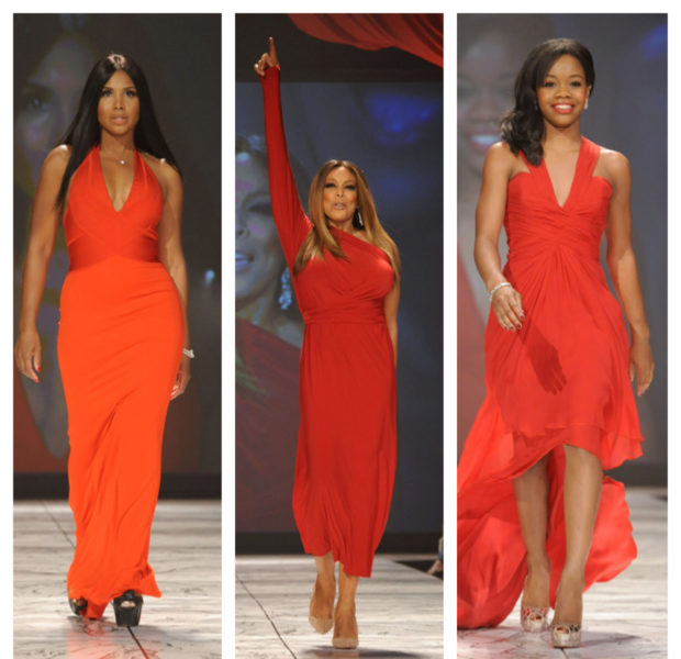 Wendy Williams, Toni Braxton, Gabby Douglas Rip the Runway for the 'Heart Truth Fashion' Show