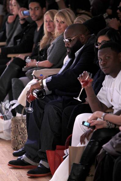 rick ross-a-Shateria Moragne-front row-new york fashion week 2013-the jasmine brand