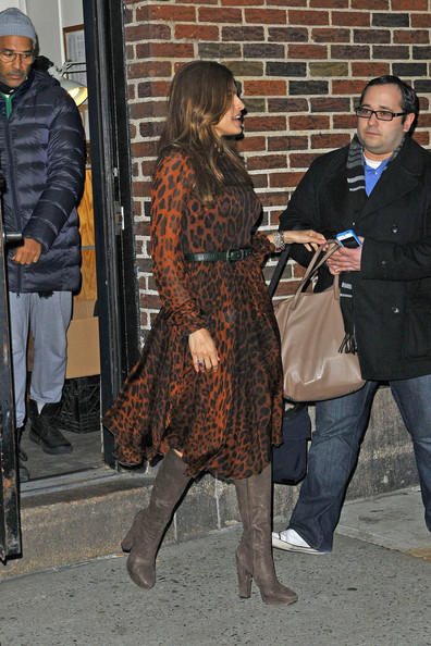 Eva-Mendes-wearing-brown-leopard-print-dress-the- jasmine-brand