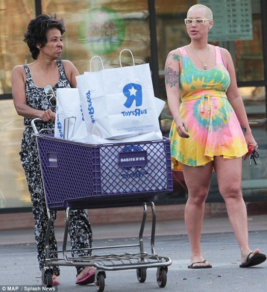 amber rose-post baby pregnancy body-the jasmine brand