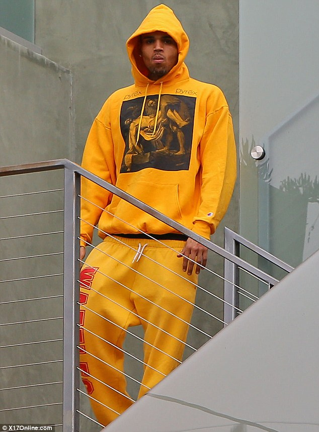 Chris Brown Leather Sneakers - Chris Brown Looks - StyleBistro |Chris Brown Fashion Style 2013