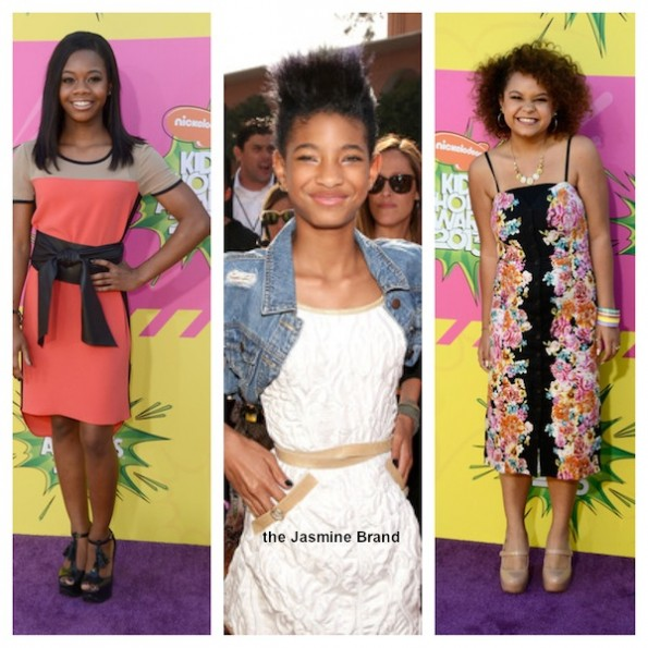 gabby douglas-willow smith-rachel crow-kids choice awards 2013-the jasmine brand