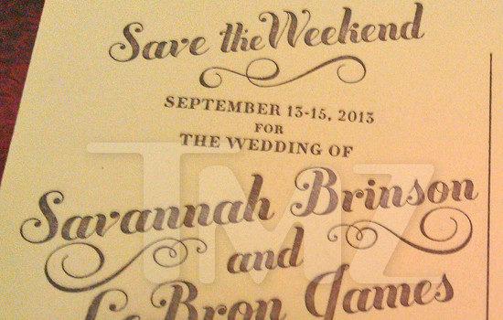 [Photos] The Wedding Is Still On! Lebron James & Savannah's Wedding Invitation Leaks