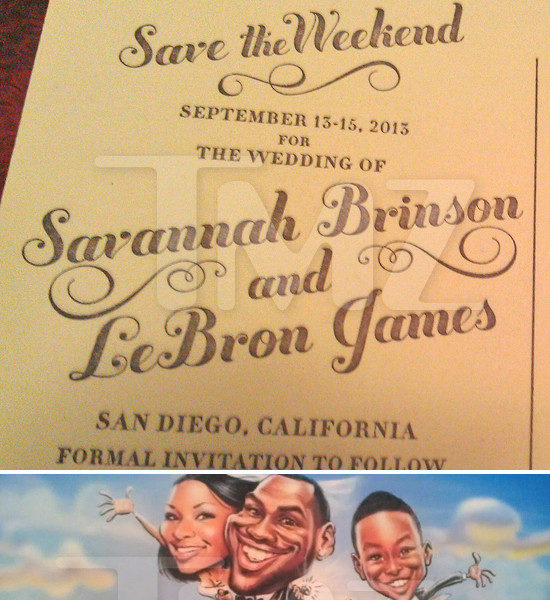[Photos] The Wedding Is Still On! Lebron James & Savannah's Wedding Invitation Leaks
