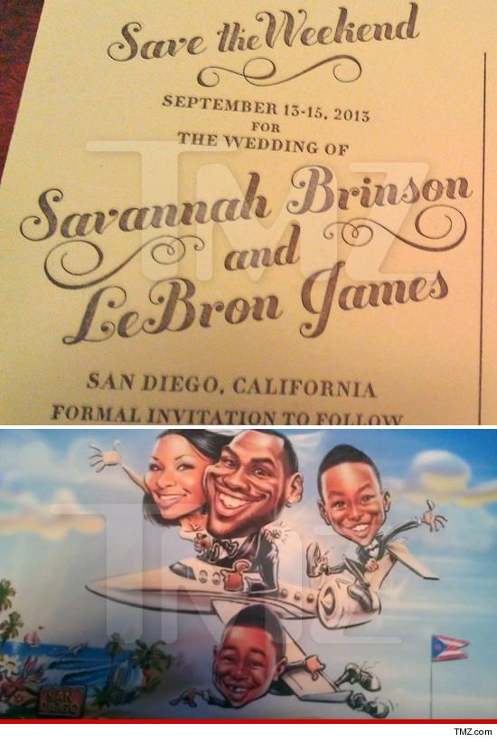 lebron-james-savannah-brinson-wedding invitation-the jasmine brand