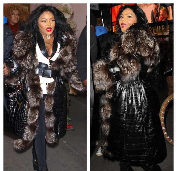 Lil Kim Gets Furry in NYC + Deion Takes Twitter Shots, After Returning to Court With Pilar Sanders