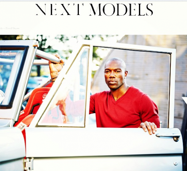 terrell owens-signed to model agency-next model-the jasmine brand