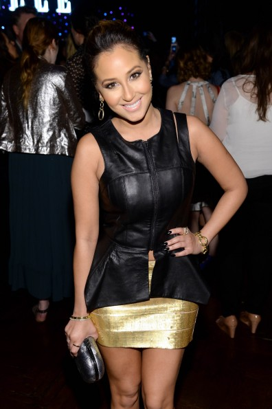 Adrienne Bailon-BCBG Leather shirt-Elle Women in Music-Fashion-thejasminebrand
