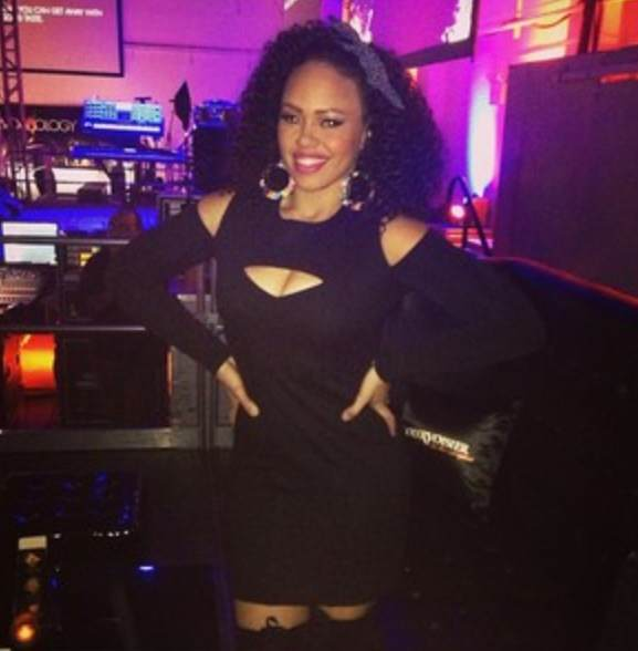 Elle Varner- black cutout mini dress-fashion-thejasminebrand