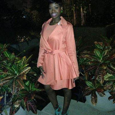 Fantasia Barrino- coral trench coat-fashion-thejasminebrand