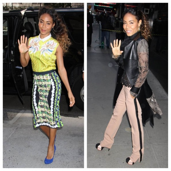 Jada Pinkett Smith-yellow blouse-pencil skirt-black lace-fashion-thejasminebrand