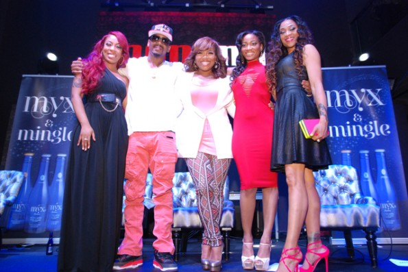 K.Michelle-Stevie J-Mona Scott Young-Erica Dixon-Mimi Faust-love and hip hop atl-nyc premiere-the jasmine brand