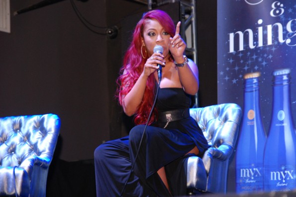 K.Michelle on stage during Q&A-love and hip hop atl-nyc premiere-the jasmine brand