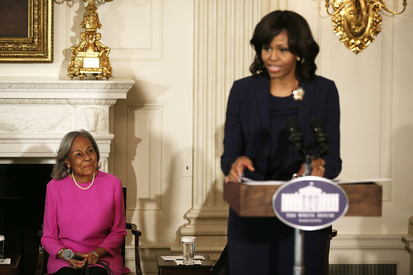 Michelle- Obama-Speaks-Along- Rachel- Robinson- The Jasmine-Brand