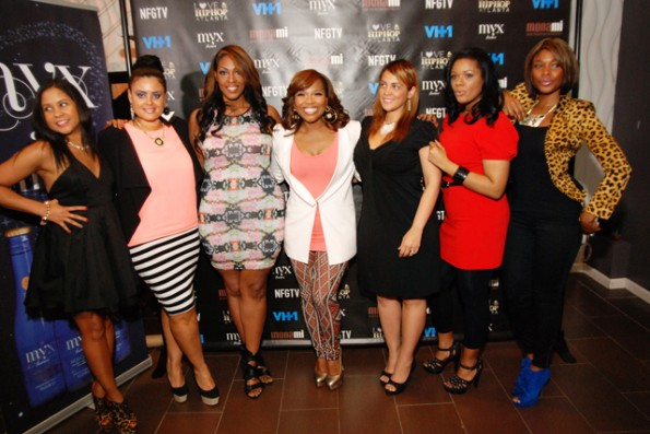 Mona with The Gossip Game cast-love and hip hop atl-nyc premiere-the jasmine brand