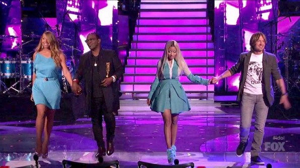 Nicki Minaj-Mariah Carey- American Idol-fashion-thejasminebrand