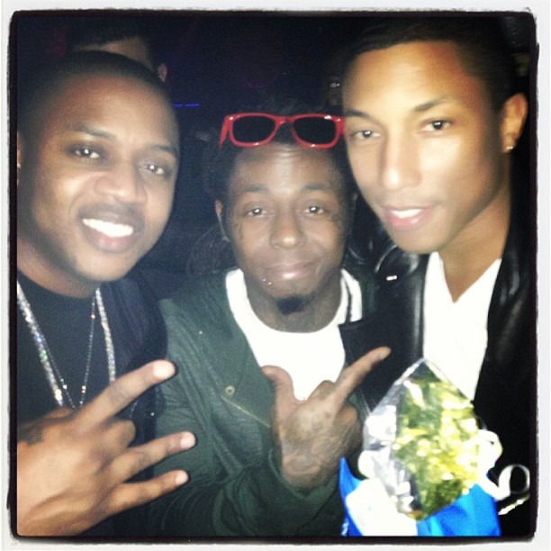 Pharell 40th birthday party-Mack Maine and Wayne-the jasmine brand.jpg