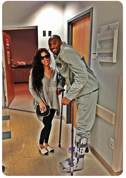 Kobe Bryant Officially Out, Snaps Photos Before Surgery + Vanessa Updates Instagram Fans