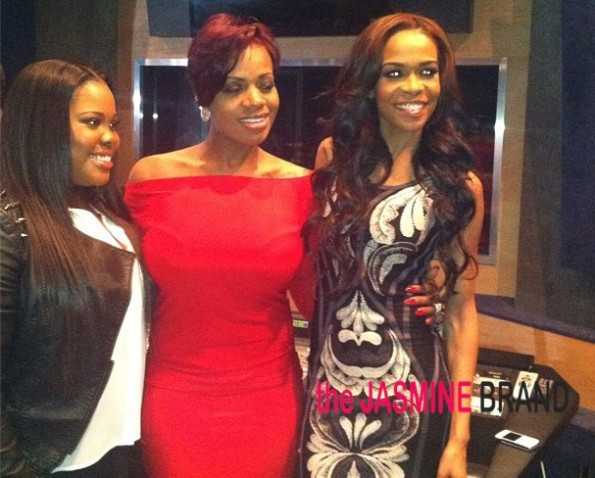 amber riley-fantasia-michelle williams-side affects listening session-the jasmine brand