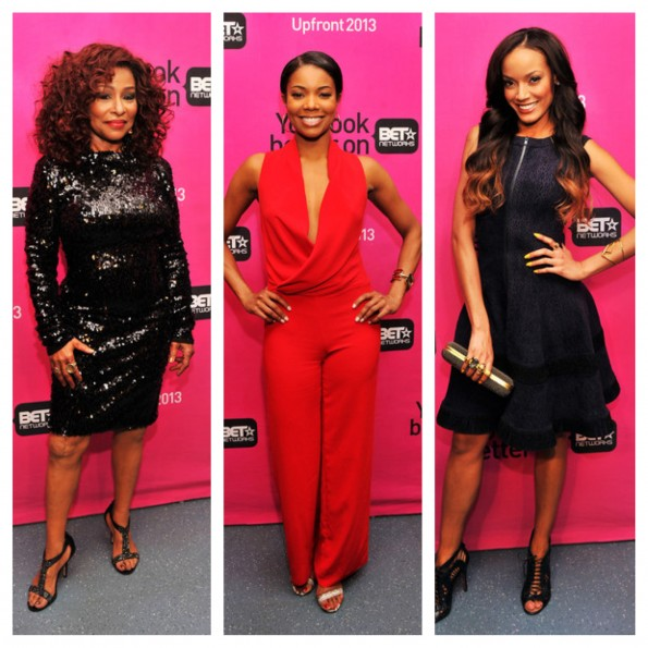 chaka khan-gabrielle union-BET upfront 2013-the jasmine brand