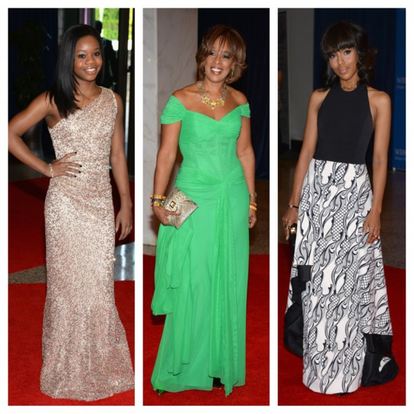 gabby douglas-gayle king-kerry washington-white house correspondents dinner 2013-the jasmine brand