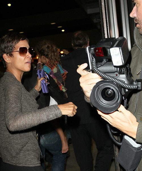 Did Halle Berry's Boyfriend Go Too Far, Protecting Nahla From Photogs?
