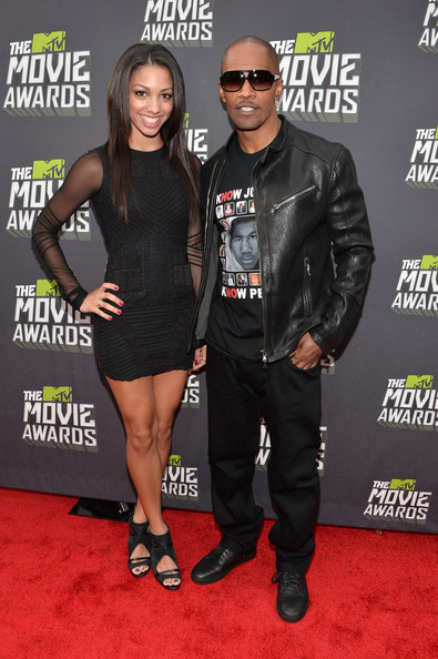 jamie foxx-corrine bishop daughter-2013 mtv movie awards-the jasmine brand