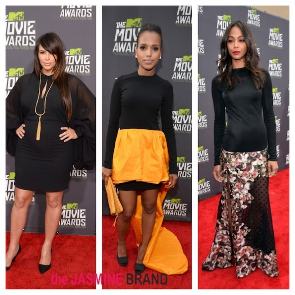kim kardashian-kerry washington-zoe saldana-mtv movie awards 2013-the jasmine brand