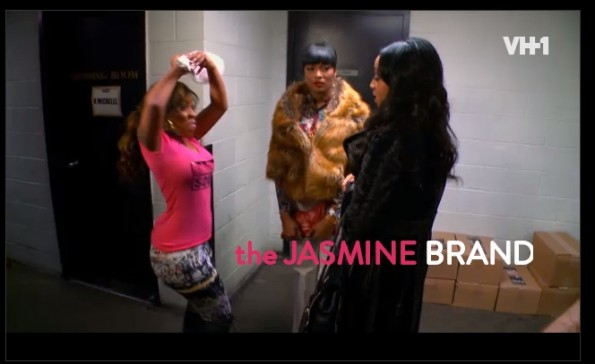 kmichelle-hits mimi with flowers-lhhatl-the jasmine brand