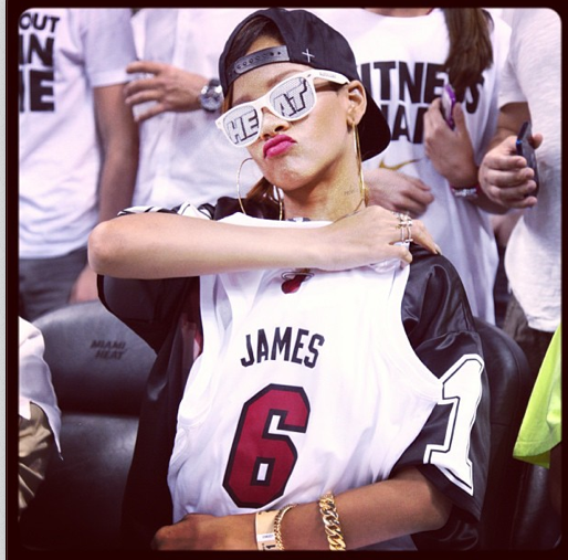 miami heat-rihanna-court side-the jasmine brand
