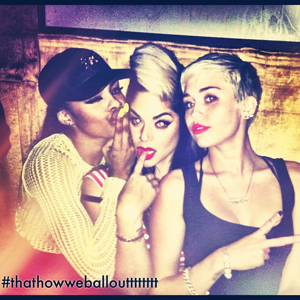 miley and teyana -pharrell 40th birthday party-the jasmine brand