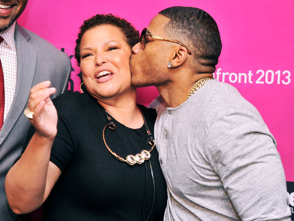 nelly kisses-debra lee-BET NYC Upfront 2013-the jasmine brand