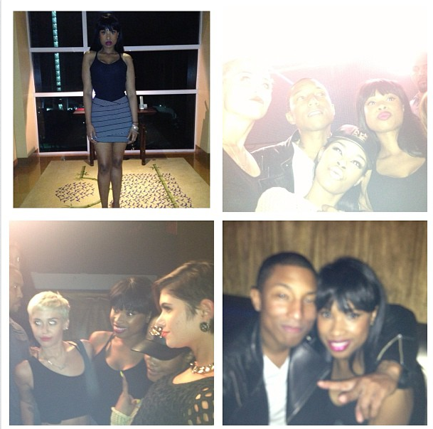 pharrell 40th birthday party-jennifer hudson-the jasmine brand