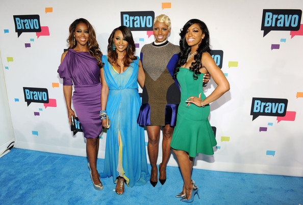 real housewives of atlanta-nene leakes-porsha stewart-cynthia bailey-kenya moore-andy cohen bravo-ny up front party-the jasmine brand