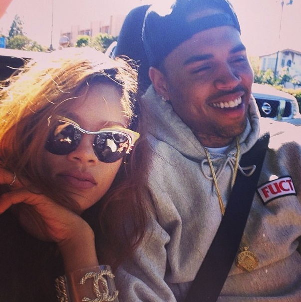 Rihanna, Chris Brown (circa 2013)