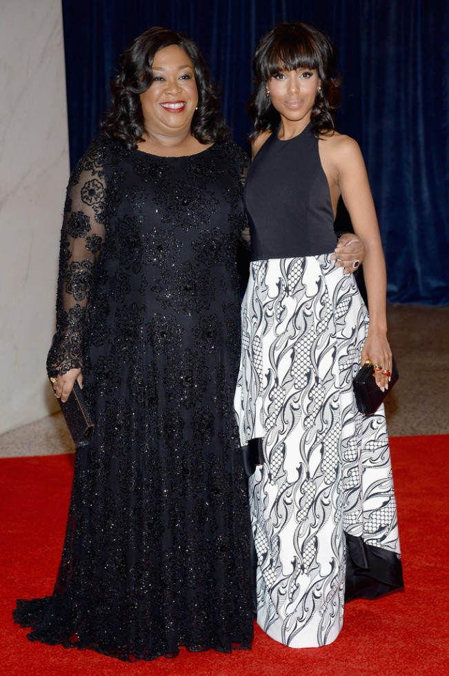 shonda rhimes-kerry washington-2013-white house correspondents dinner-the jasmine brand