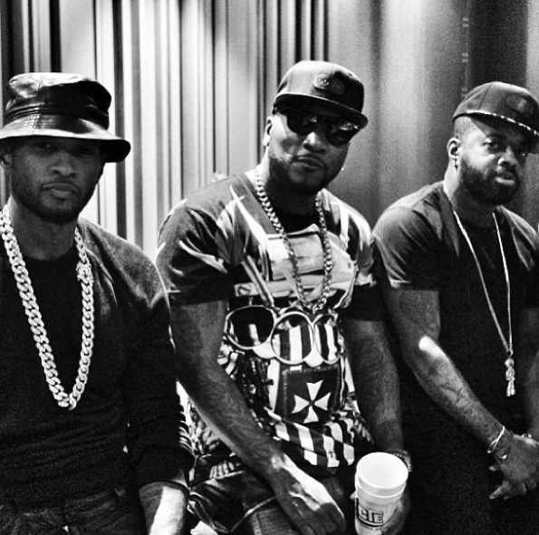 usher records new album-young jeez-jermaine dupri-the jasmine brand