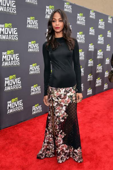 zoe saldana-2013 mtv movie awards-the jasmine brand