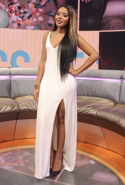 Angela Simmons at 106 & Park, May 24, 2013. (photo: John Ricard / BET)