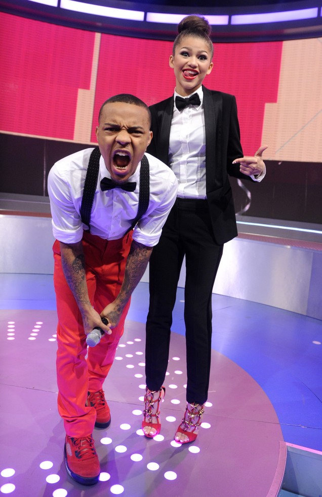 Bow Wow and Zendaya at 106 & Park, May 24, 2013. (photo: John Ricard / BET)