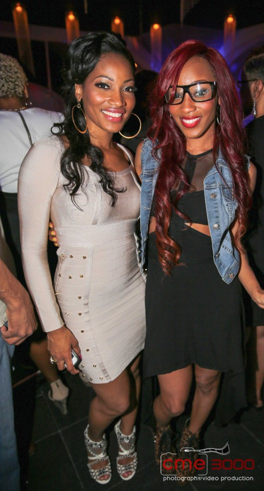 Erica Dixon-Dondria-R&B Divas-season 2 premiere party-the jasmine brand