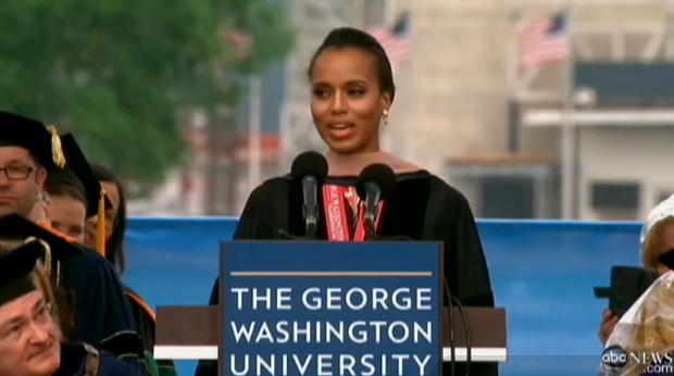 [Video] Kerry Washington Hits DC, Gets Honorary Degree & Gives Commencement Speech At George Washington University