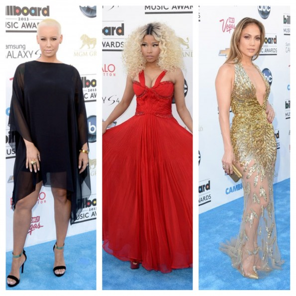 amber rose-nicki minaj-jennifer lopez-billboard music awards 2013-the jasmine brand